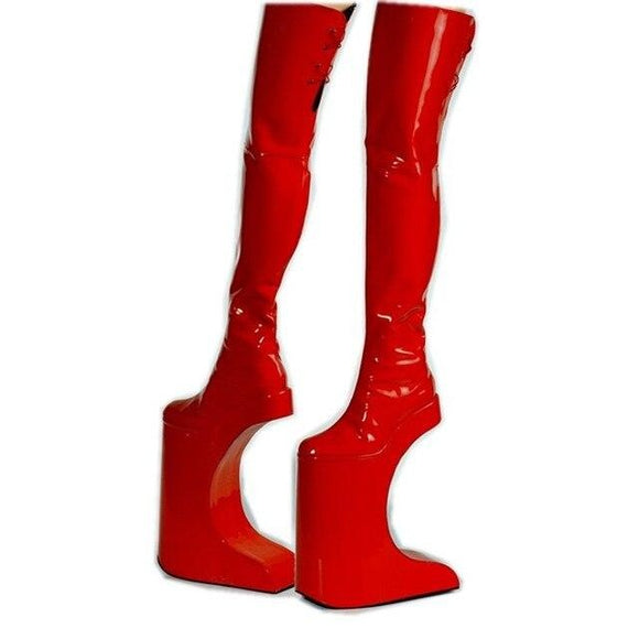 Twiggy - Extreme Dragqueen Halfmoon Thigh High Boots - Plus size-Queenofdrag.com