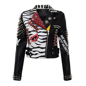Graffiti 2 - Faux Leather Drag Queen Jacket-Queenofdrag.com