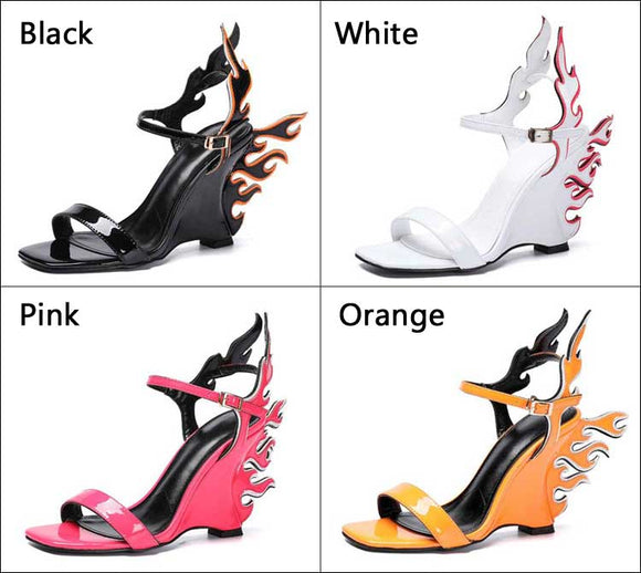 Flame - Drag Queen 10CM High Wedges/Platform Shoes -Plus Size-Queenofdrag.com
