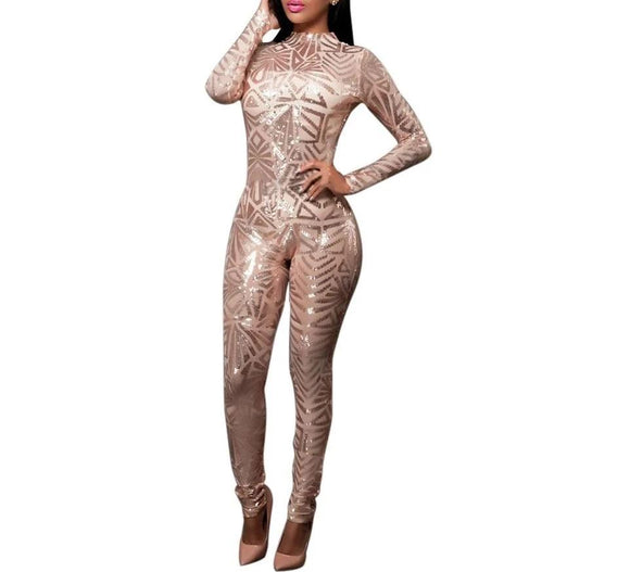 Ruby - Drag Queen Sequined Jumpsuit-Queenofdrag.com