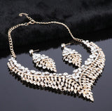 Grace - Crystal Necklace & Earrings Jewelry Set-Queenofdrag.com