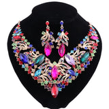 Gia - Drag Queen Fashion Rhinestone Jewelry Set 5 Colors-Queenofdrag.com