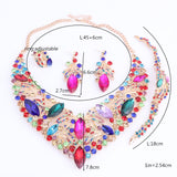 Gia - Drag Queen Fashion Rhinestone Jewelry Set 5 Colors