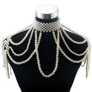Flofs - Drag Queen Pearl Necklace-Queenofdrag.com