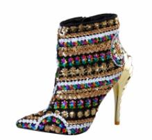 Titikaka - Drag Queen Sequin Boots-Queenofdrag.com