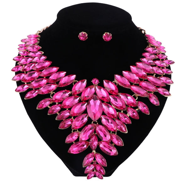 Bella - Drag Queen Crystal Jewelry Set in different colours