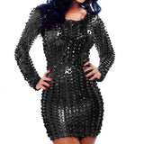 Fishy - Wetlook Fashion  Faux Leather Drag Queen Dress