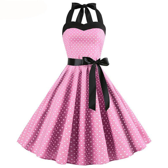 Retro - Polka Dot Drag Queen Dress in Different Colours and Patterns-Queenofdrag.com