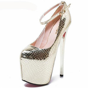 Disco - Gold Sliver 20cm Drag Queen Platform Pumps-Queenofdrag.com