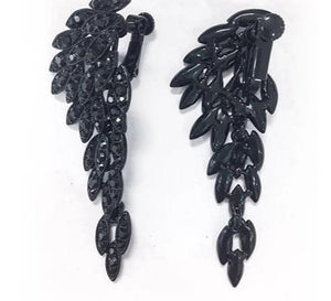 Paon - Drag Queen Crystal Clip On Earrings-Queenofdrag.com
