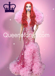 Queen Pink - Custom Made Drag Queen Sequin Gown-Queenofdrag.com