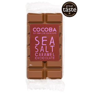 Cocoba Sea Salt & Caramel Great Taste Award Winning Chocolate Mini Bar