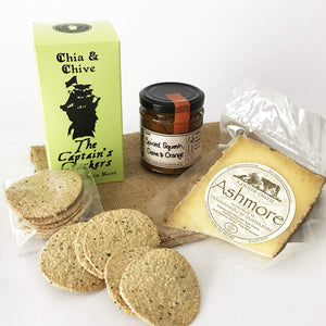 Whitstable Larder Ashmore Cheese, Cracker & Chutney Food Box