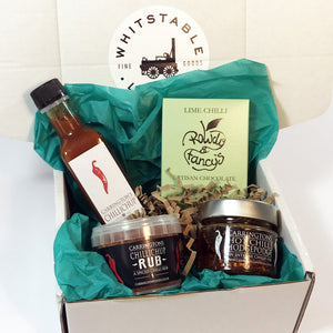 Some Like it Hot, The Perfect Gift for Lovers of Spice & Aspiring Cooks! Small Spicy Gift Box curated by Whitstable Larder.