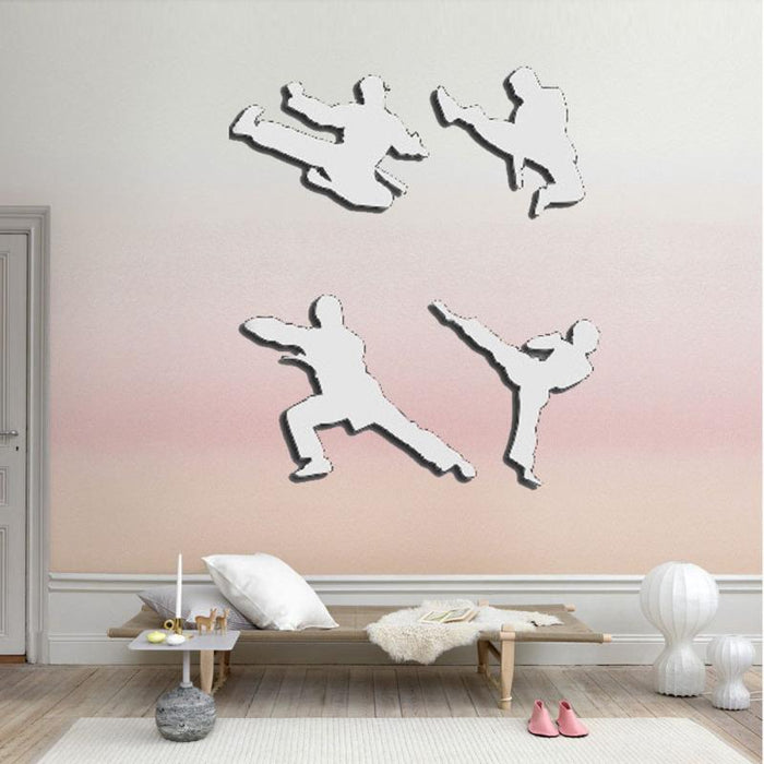Accessories - 3D Martial Arts Mirror Wall Figures