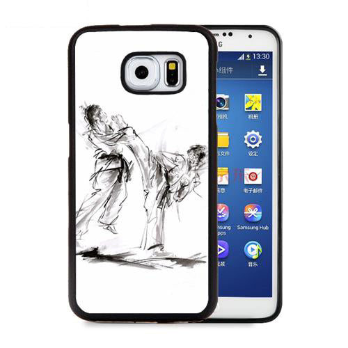 Martial Arts Cell Phone Cases For Samsung Galaxy S5 S6 S7 edge plus S8 S9 plus Note 4 5 8 Head Kick