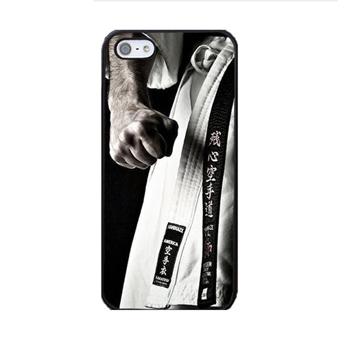 Martial Arts Cell Phone Cases For Apple iPhone X 8 7 6S 6 Plus 5 5S SE Rubber Back Black Belt