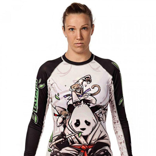 Rash Guard - Ladies Gentle Panda Rashguard