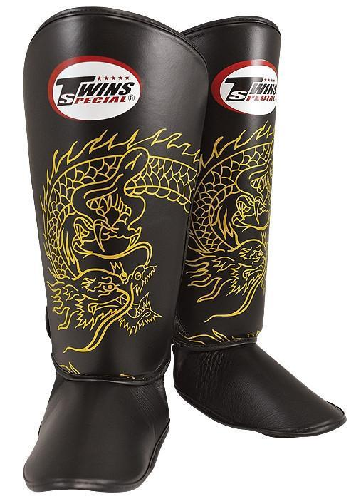 Sparring Gear - Dragon Print Shin And Instep Guards