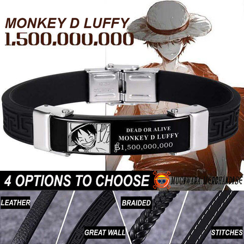 One Piece Bracelet Wanted Luffy