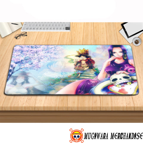 One Piece Mouse Pad Boa Hancock with Luffy