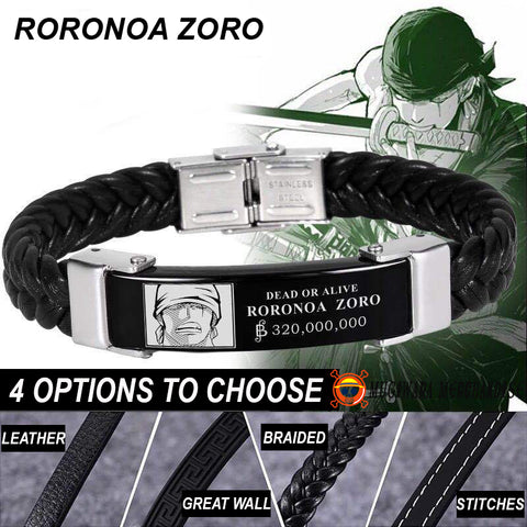 One Piece Bracelet Wanted Zoro