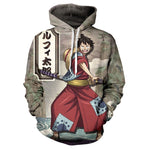 One Piece Jacket Wano Arc Luffy