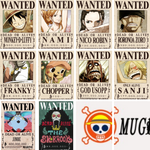 One piece straw hat wanted posters full set