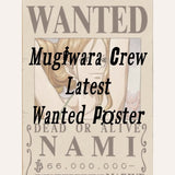 All Straw Hat Crew Members Wanted Poster Sticker