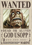 Straw Hat Wanted Poster Sticker - usopp wanted poster