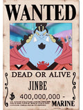 Straw Hat Wanted Poster Sticker - jinbei wanted poster