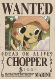 Straw Hat Wanted Poster Sticker - chopper wanted poster