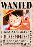 Straw Hat Wanted Poster Sticker - monkey d luffy wanted poster