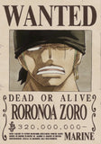 Straw Hat Wanted Poster Sticker - zoro wanted poster