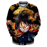 One Piece Luffy Button Long Sleeve Shirt