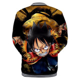 One Piece Button Long Sleeve Shirt Luffy