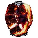 One Piece Sabo Button Long Sleeve Shirt