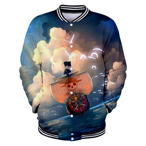 One Piece Button Long Sleeve Thousand Sunny