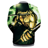 One Piece Zoro Button Long Sleeve shirt