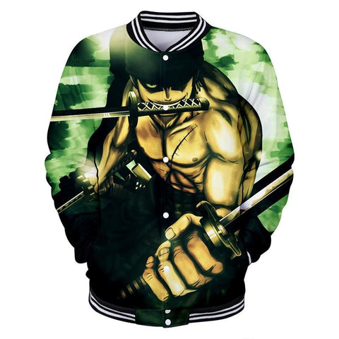 One Piece Button Long Sleeve shirt Zoro