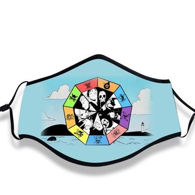 One Piece Face Mask All Strawhat Crew Logo