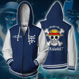 One Piece Jacket Straw hat pirates Logo Blue