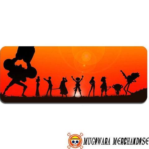 One Piece Mouse Pad Strawhat Crew Sunset