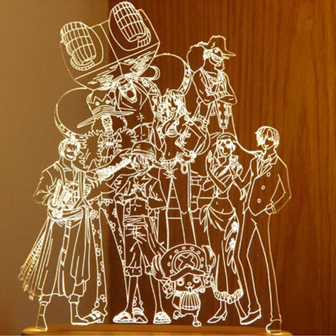 One Piece Straw Hat 3D LED Light