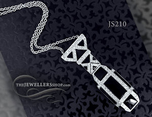 Diamond & Onyx Necklace