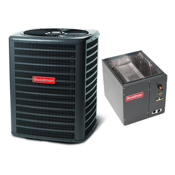 2 Ton 14 Seer Goodman Heat Pump Condenser and Coil