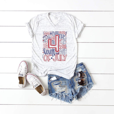 4th Of July Typography - Tee