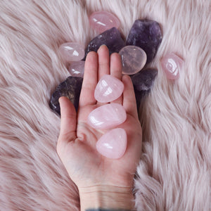 Load image into Gallery viewer, Rose Quartz | Tumbled | Large