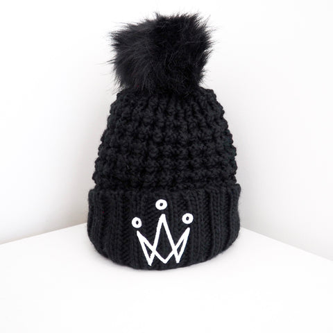 Black Bomb Bobble Hat