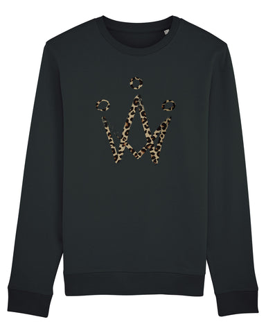 Leopard Crown Black Sweater